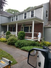 Carpentry wood repairs on railing country porch decking Lexington, MA