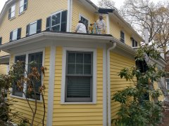 Screen repairs wood repairs beautiful 3 season porch cape style home Lexington, MA